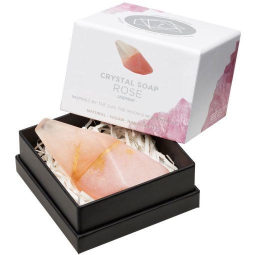Rose Quartz Crystal Soap in box new style box