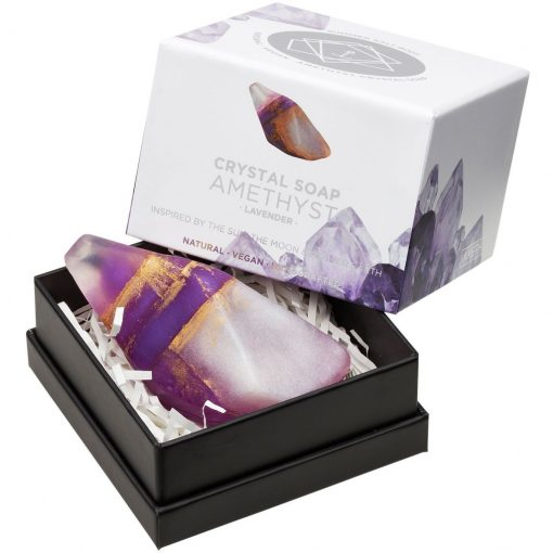 Amethyst Crystal Soap in box new style