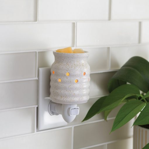 Farmhouse Pluggable Fragrance Warmer plugged into powerpoint