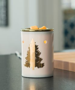 Golden Fir Illumination Fragrance Warmer displayed on table