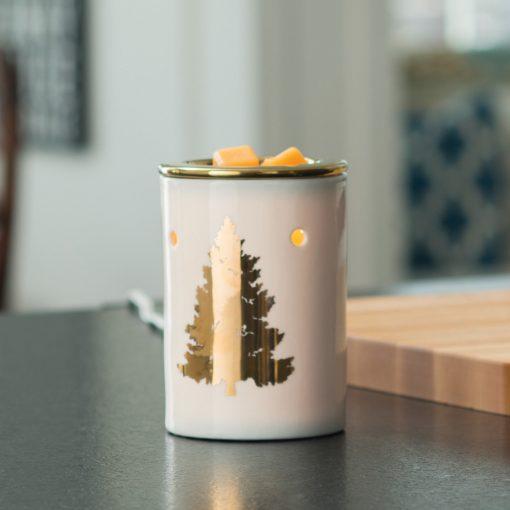 Golden Fir Illumination Fragrance Warmer displayed on table