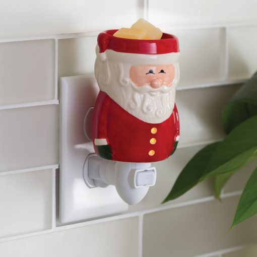 Santa Clause Pluggable Fragrance Warmer plugged into powerpoint