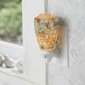 Sea Glass Pluggable Fragrance Warmer plugged in powerpoint