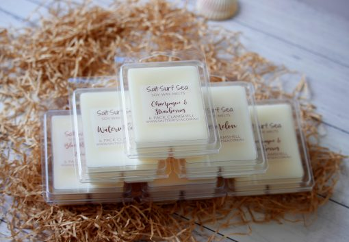 Champagne and Strawberries 6 pack clamshell soy wax melts