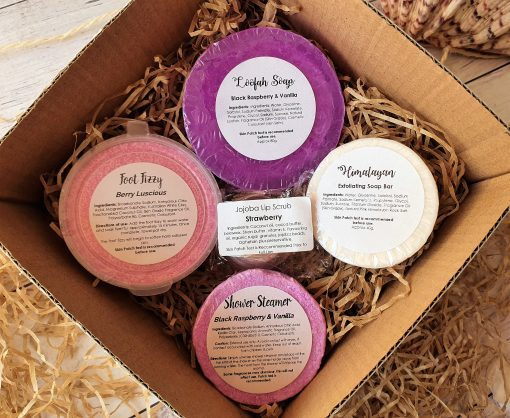 Gift Pack $22.50 with Black Raspberry & Vanilla Exfoliating Loofah Soap