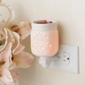 Mason Jar Pluggable Fragrance Warmer plugged into powerpoint in wall