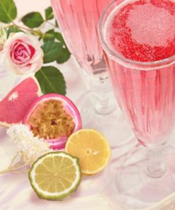 pink champagne and exotic fruits fragrance