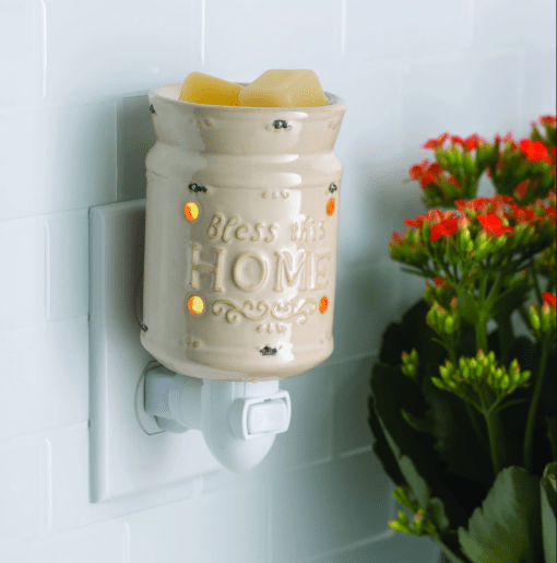 Bless This Home Cream Pluggable Fragrance Warmer