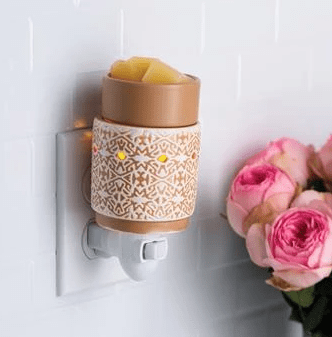 White Terracotta Pluggable Fragrance Warmer