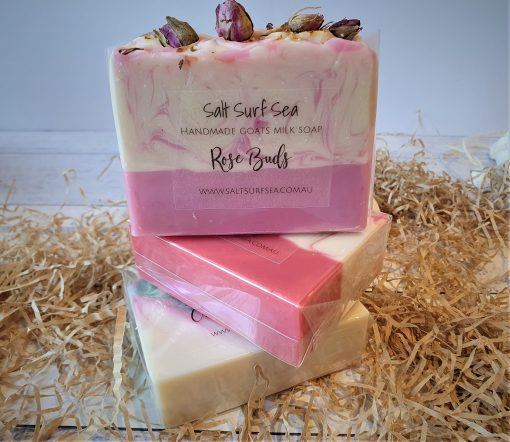 Gift Pack $25 3 Handmade Soaps displaying 3 stacked soaps